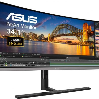 ASUS Curved Monitor IPS Eye Care 34-Inch PA34VC
